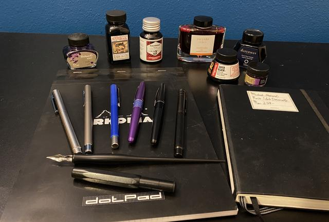 My collection of pens and inks